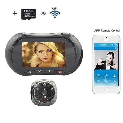 Terca 9,4 cm Smart Wifi pantalla mirilla Digital cámara gran angular Len + visión