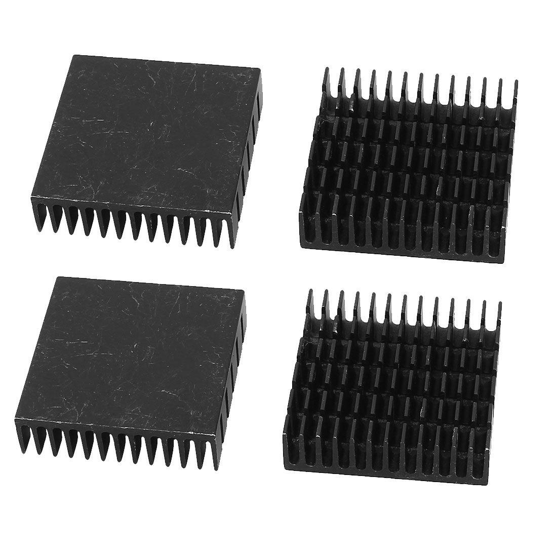 uxcell Aluminum Heatsink Radiator Heat Sink Cooling Cooler Fin 40mm x 40mm x 11mm 4 Pcs Black