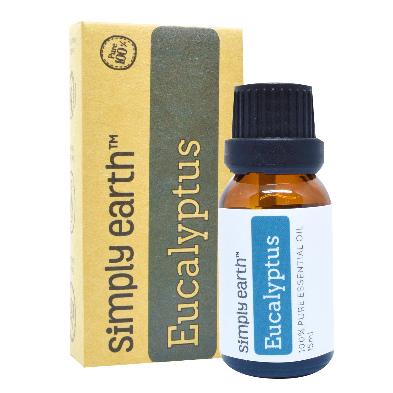 Simply Earth Eucalyptus Essential Oil by 15 ml, 100% Pure Therapeutic Grade