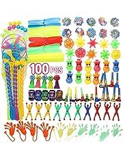 YueChen 100PCS Party Favors Jouets pour Enfants,Assortiment de Jouets Enfants ,Fille Garçon d'anniversaire Cadeau Sacs,Pinata Fillers Enfants Carnaval Prix Récompense de L'école
