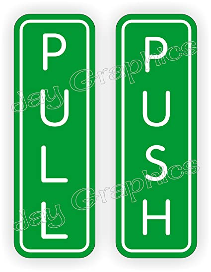 Amazon Engraved Push And Pull 6x2 Glass Or Wood Door Signs