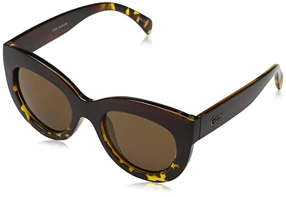 Quay Eyewear Damen Sonnenbrille Delilah, Mehrfarbig (Tort/Brn), One size (Herstellergröße: Einheitsgröße)