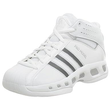best service 017d0 4fcab adidas Men s Pro Model Team Color Basketball Shoe,White White,8.5 M