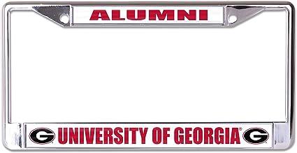 WinCraft NCAA University Georgia Bulldogs Alumni Metal License Plate Frame Inlaid Acrylic