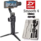 Zhiyun Smooth 4 3 Axis Handheld Gimbal Stabilizer, Phone Camera Video Tripod w/Focus Pull&Zoom for iPhone X/8 Plus/7/SE Samsung Galaxy S8 Plus/S7/S6/Note 8 etc (Black)