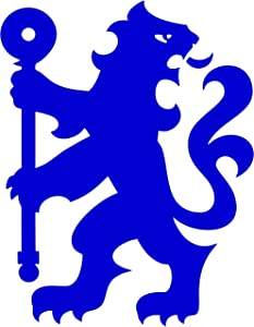"""Chelsea Football Club Lion Decal Sticker for Car Laptop Wall Blue (12"""")"""