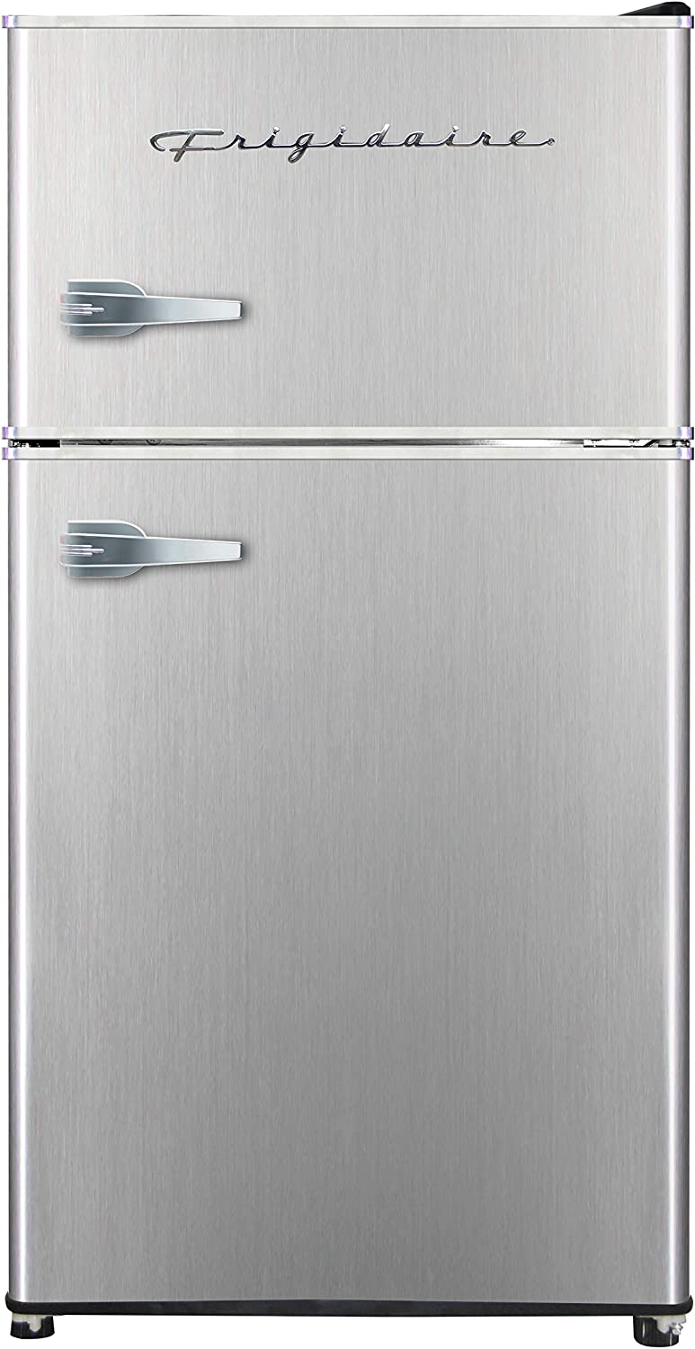 Frigidaire EFR391, 3.2 cu ft 2 Door Fridge and Freezer, Platinum Series, Stainless Steel