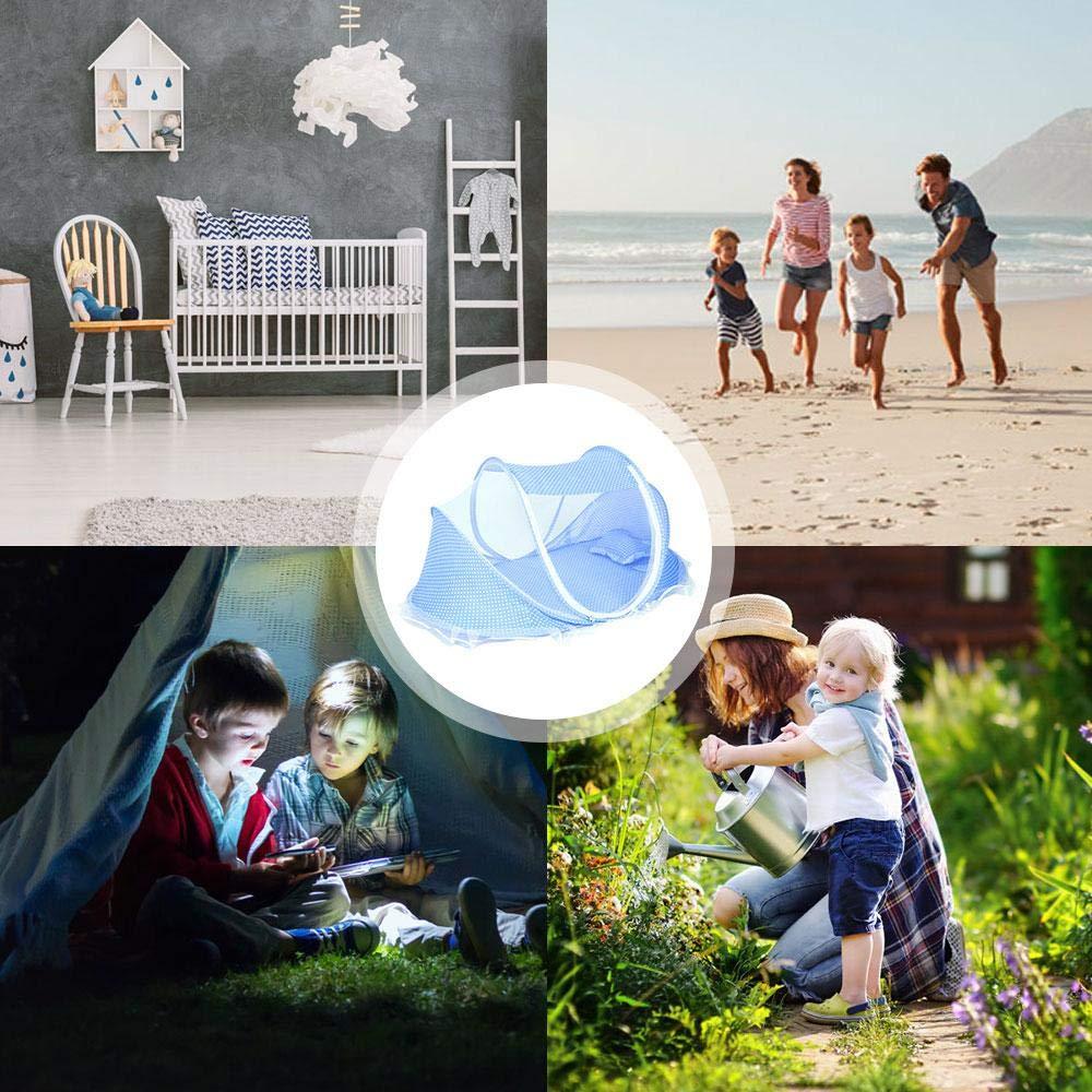 Cama de Viaje para beb/é Goglor Tienda de campa/ña de Playa con protecci/ón UV UPF 50 con mosquitera y Almohada
