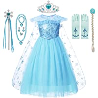 DOCHEER Anna Princess Dress Up Elsa Snow Queen Costume Halloween Party Dresses