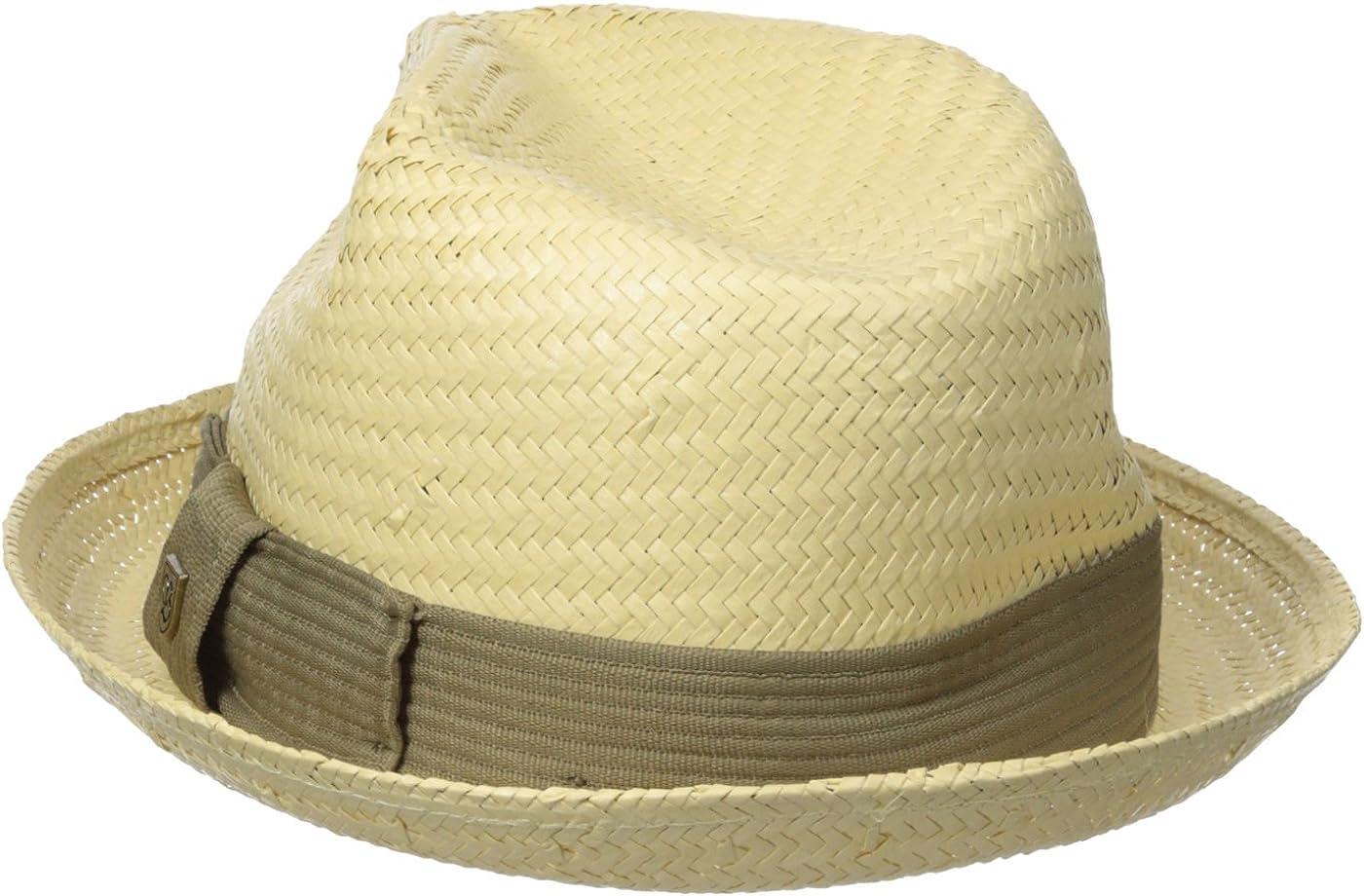 Brixton Mens Castor Straw Fedora Hat