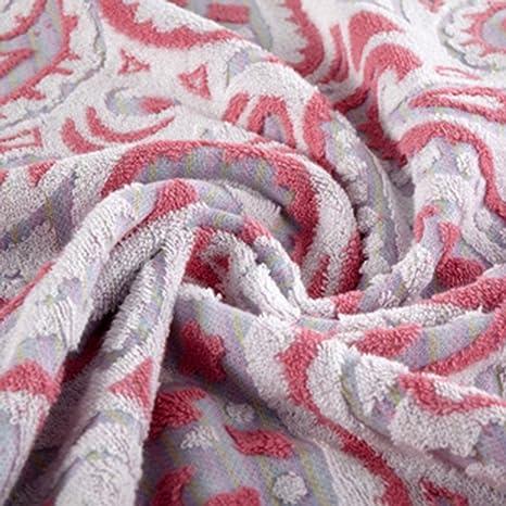 Toalla de baño suave---- Toallas de algodón de patrón Aumentar el engrosamiento de toallas absorbentes suaves ...