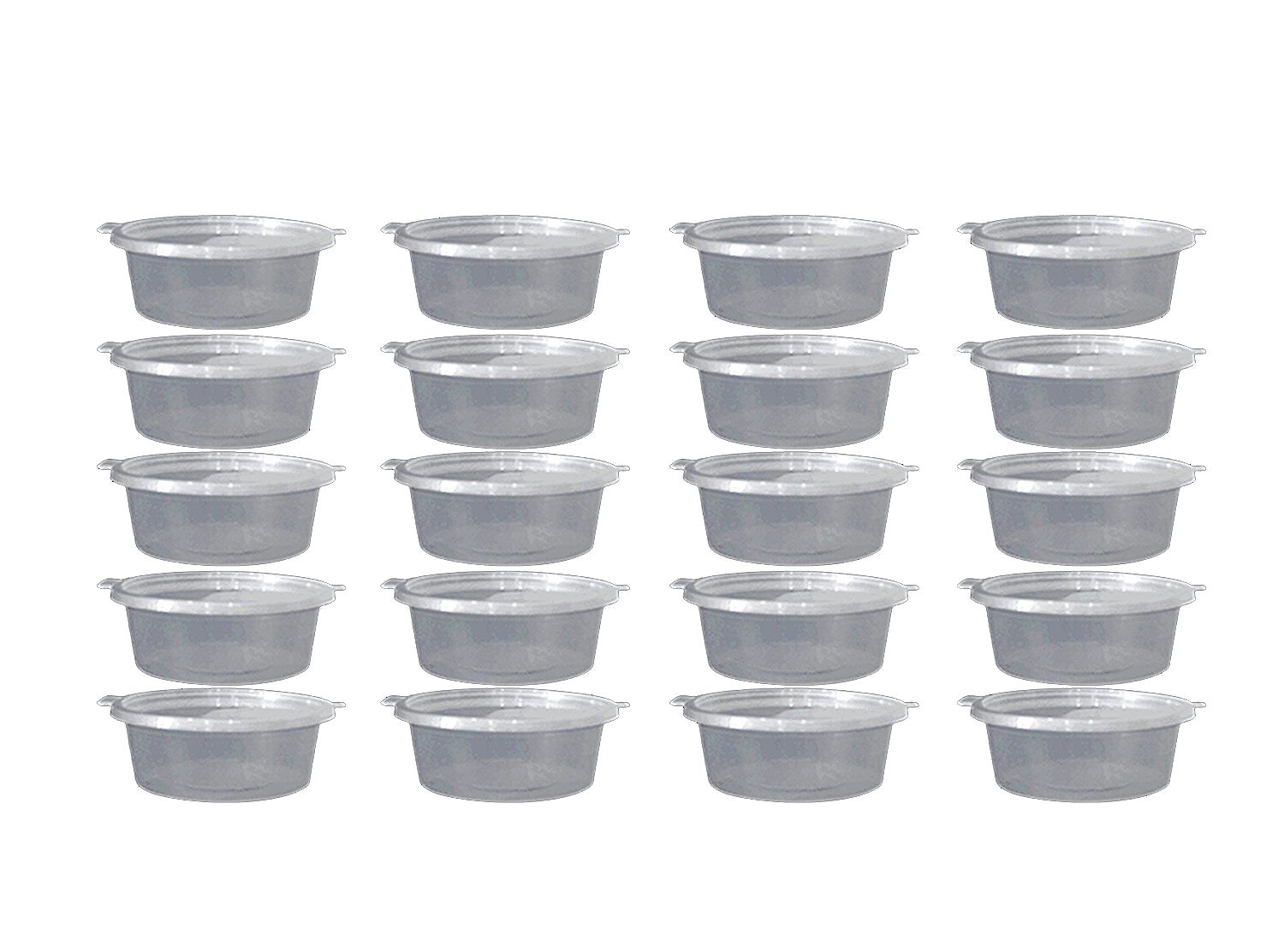 Bestsupplier Storage Containers, 30 Pack Foam Ball Storage Containers with Lids 4 oz