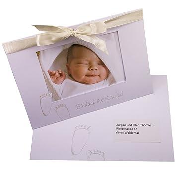 """Baby tarjeta """"fiete – texto Thank You"""" nacimiento o bautizo para niñas"""