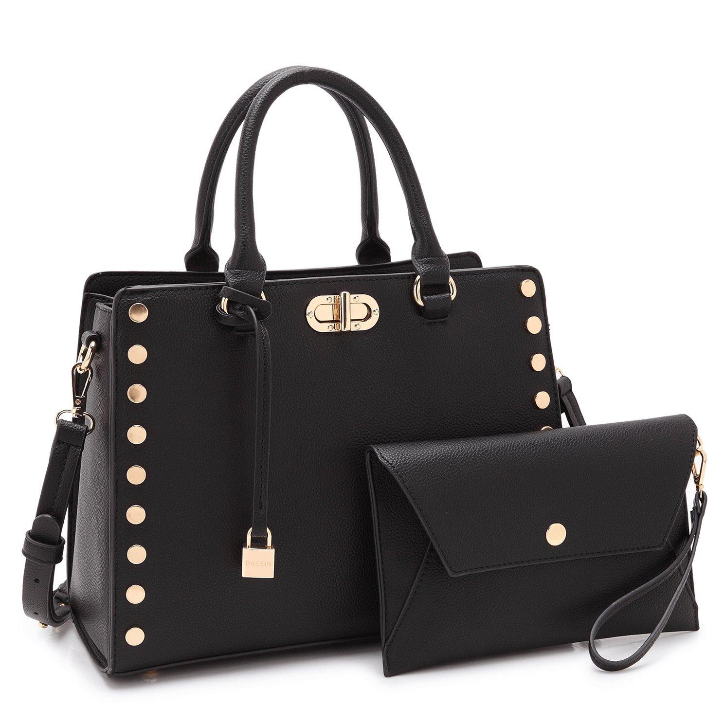 Amazon.com: Maya Karis Purse Designer Bag for Women, Twist-Lock Lady Satchel w/Pouch Teen Girl Summer Bag 7579 BK: Shoes