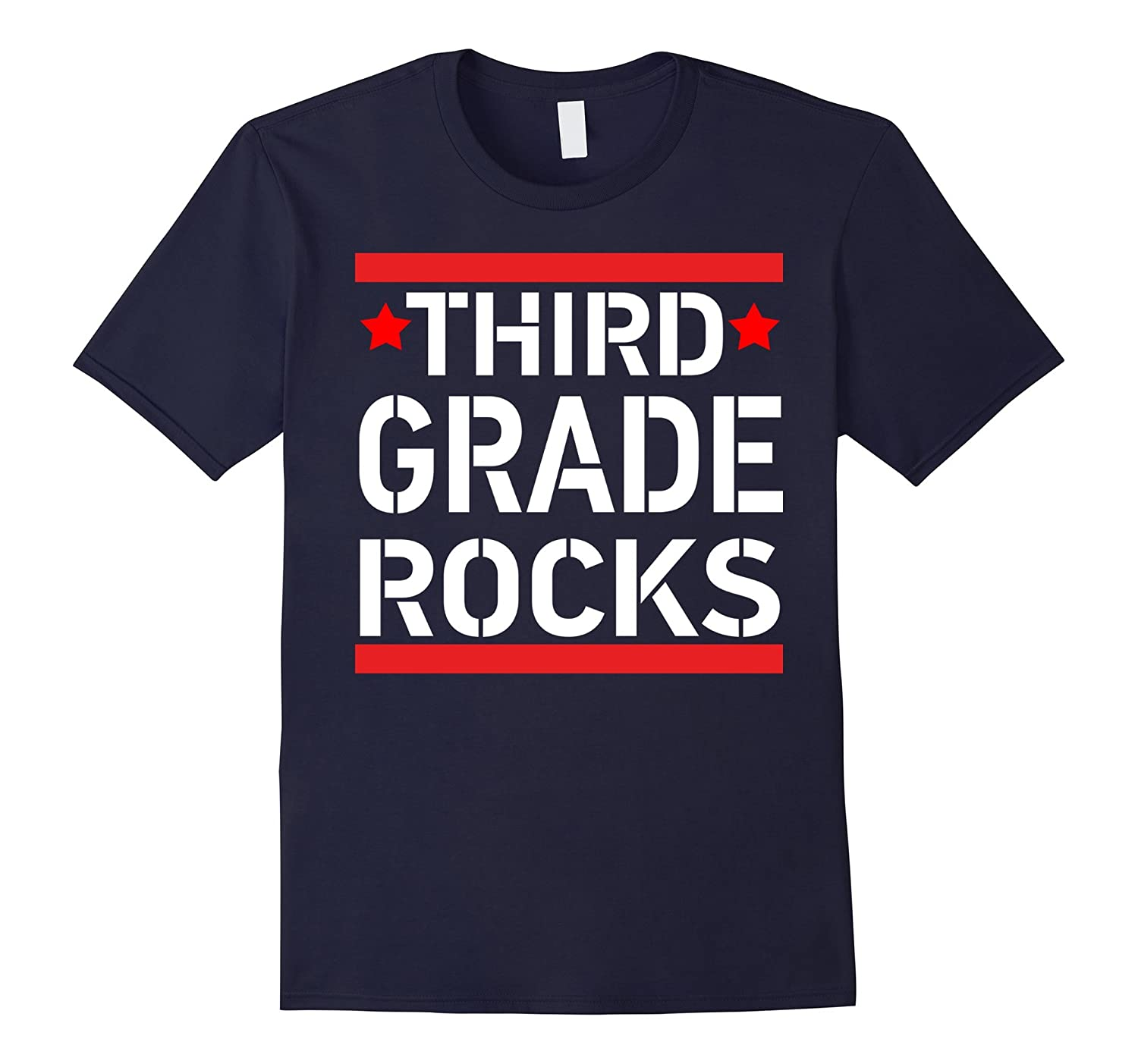 3rd grade rocks Shirt teacher gift tee-BN