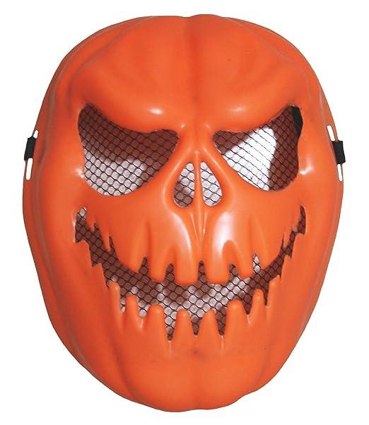 Petitebelle Halloween plástico Calabaza Naranja Diablo máscara de para Fiesta