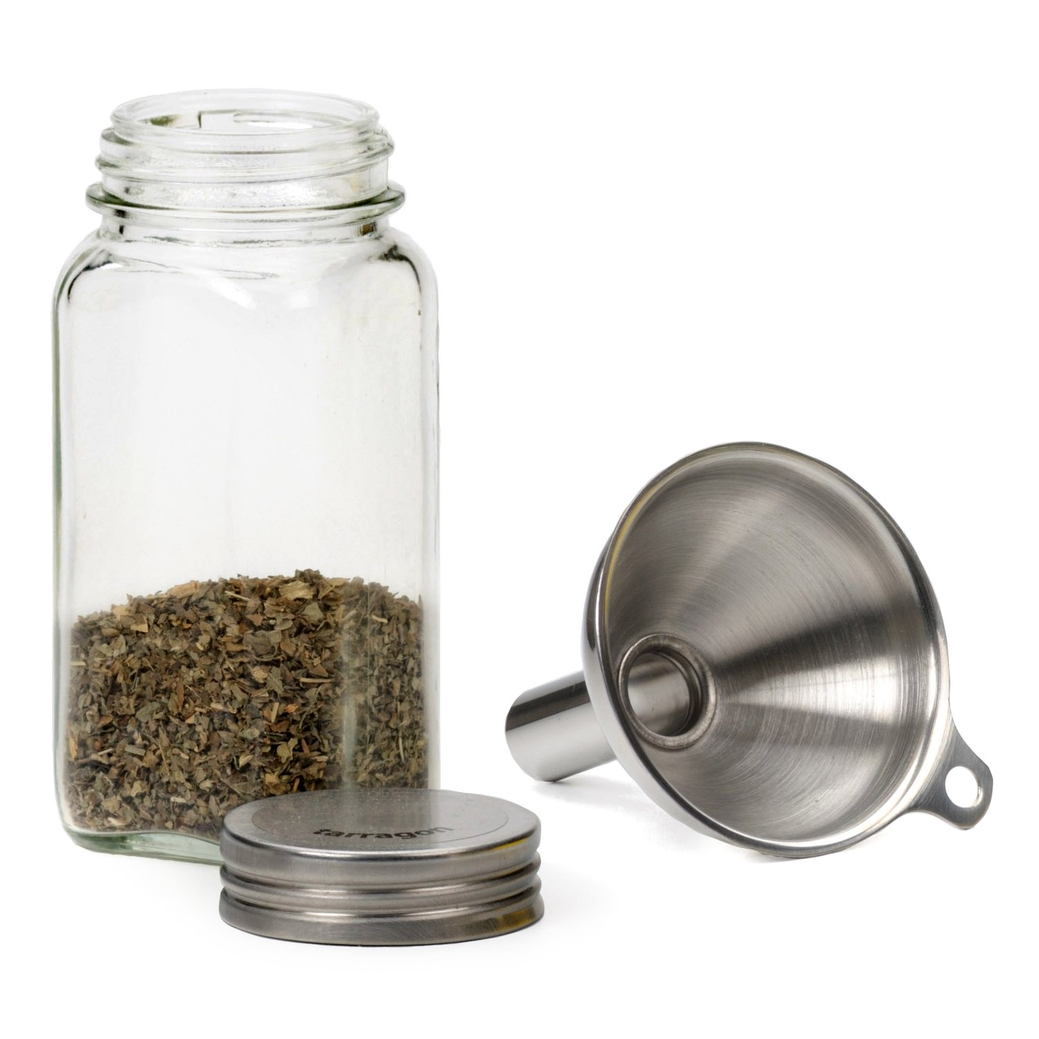 amazon com stainless steel funnel for filling narrow jars and