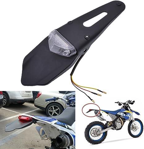 Universale Parafango Posteriore Enduro Off Road Moto Luce