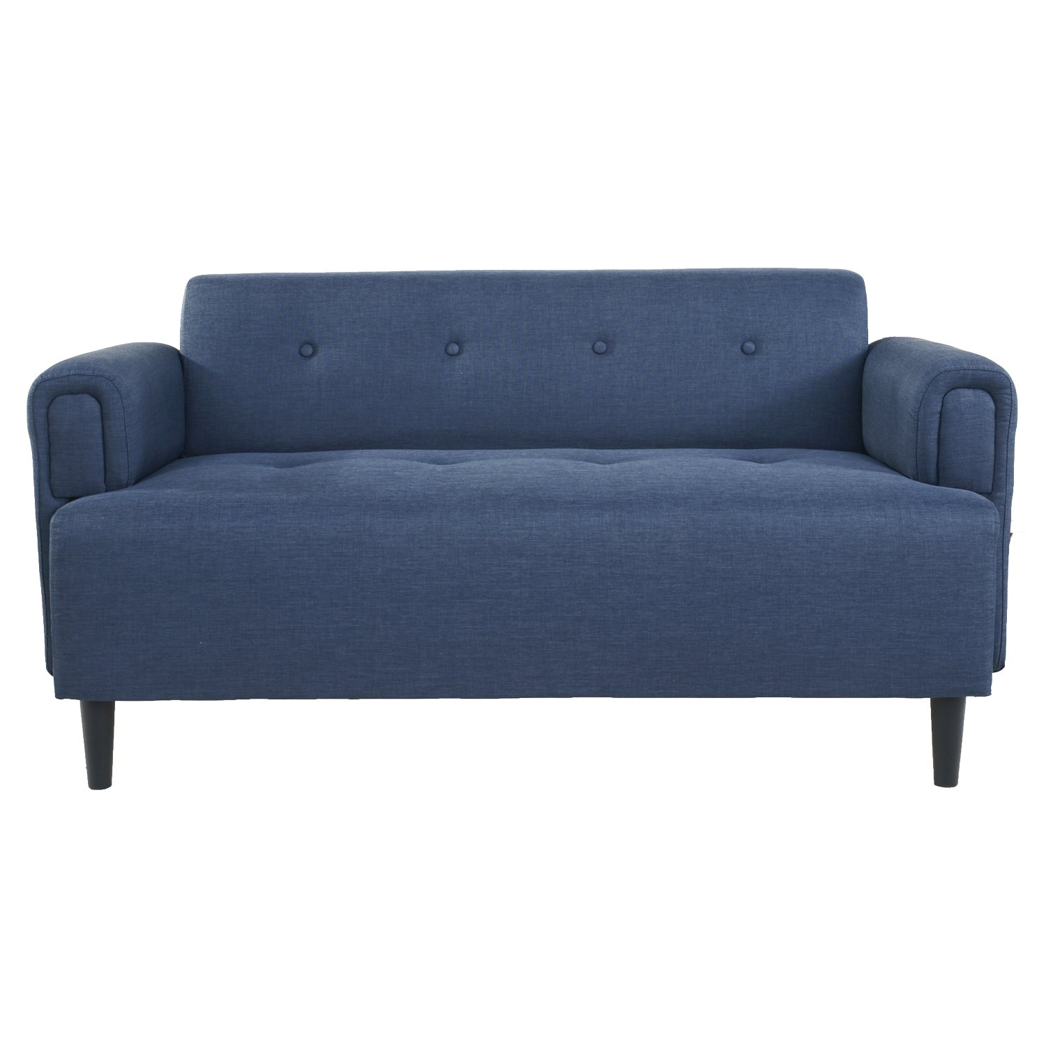 Adeco Fabric Sofa (Navy Blue)