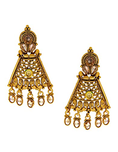 Anuradha Art Gold Finish Wonderful Studded Sparkling Stone TraditionalEarrings For Women//Girls