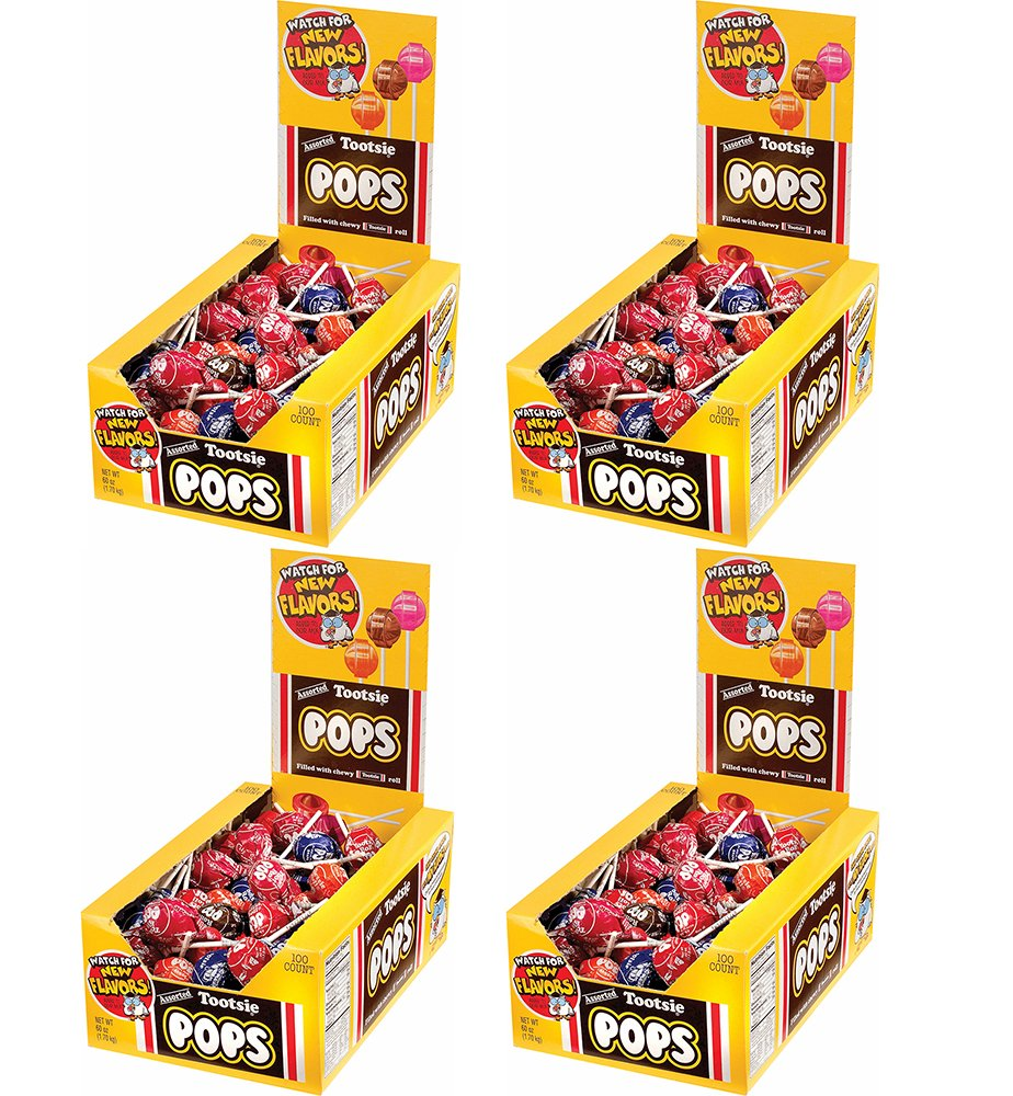 Tootsie Roll Tootsie Pops, Assorted Flavors ToqaxuJ, 100 Count (4 Pack)