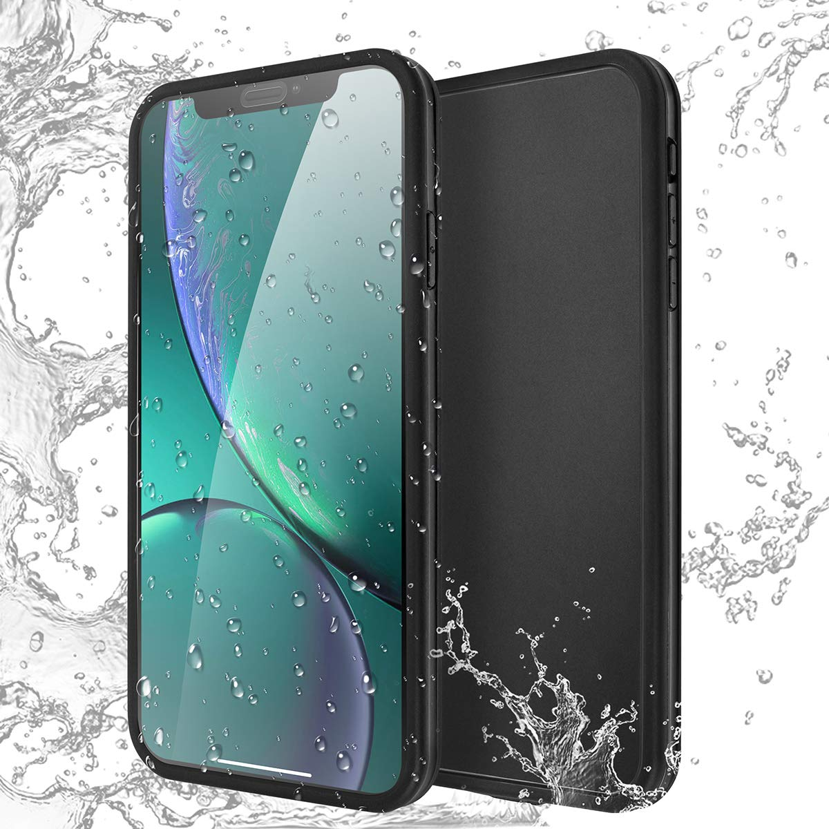big sale 4f0cf 5ba3d iPhone Xs Max Waterproof Case, AICase IPX-6 Water Resistant [360 All Round  Protective] Ultra Slim Thin Light Shock/Dust/Snow Proof with Built-in ...