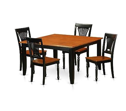 Amazon.com: Deluxe Premium Collection 5 Pc Dining Room Set ...