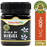 Miele di Manuka MGO 400+ (UMF 14+) 250 grammi | Prodotto in Nuova Zelanda, Puro e Naturale al 100% | Contenuto di Metilgliossale Certificato | Ricco di Proprietà Antibatteriche, Migliora le Difese Immunitarie | Miele di Manuka Attivo e Grezzo