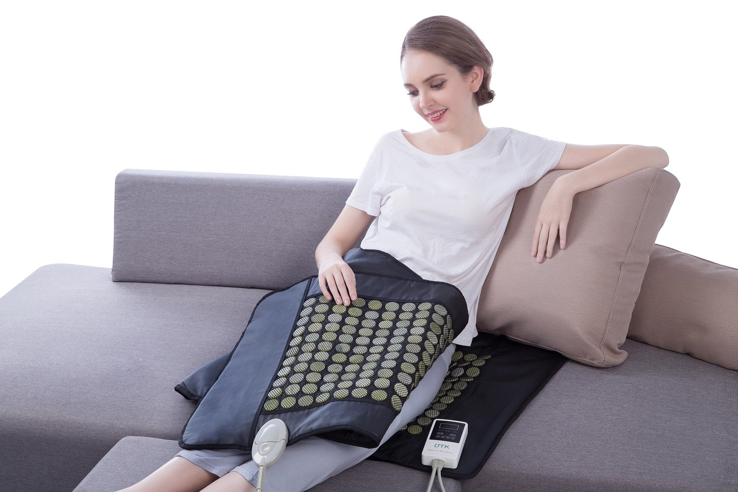 UTK Far Infrared Natural Jade Heating Pad for pain relief, Large Full Body Size(24''x 70'') by UTK (Image #3)