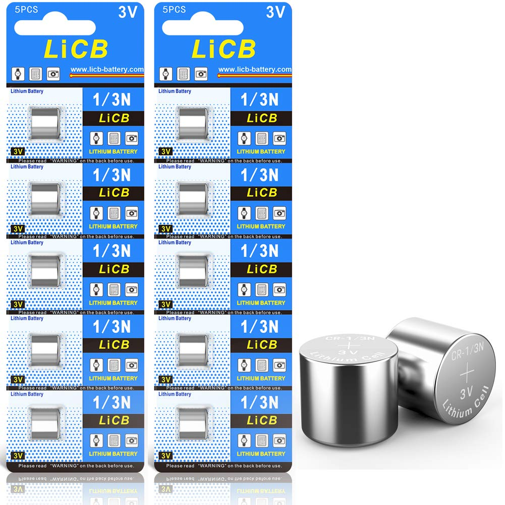 LiCB 10 Pack CR1/3N Battery 3V Lithium CR 1/3N Batteries