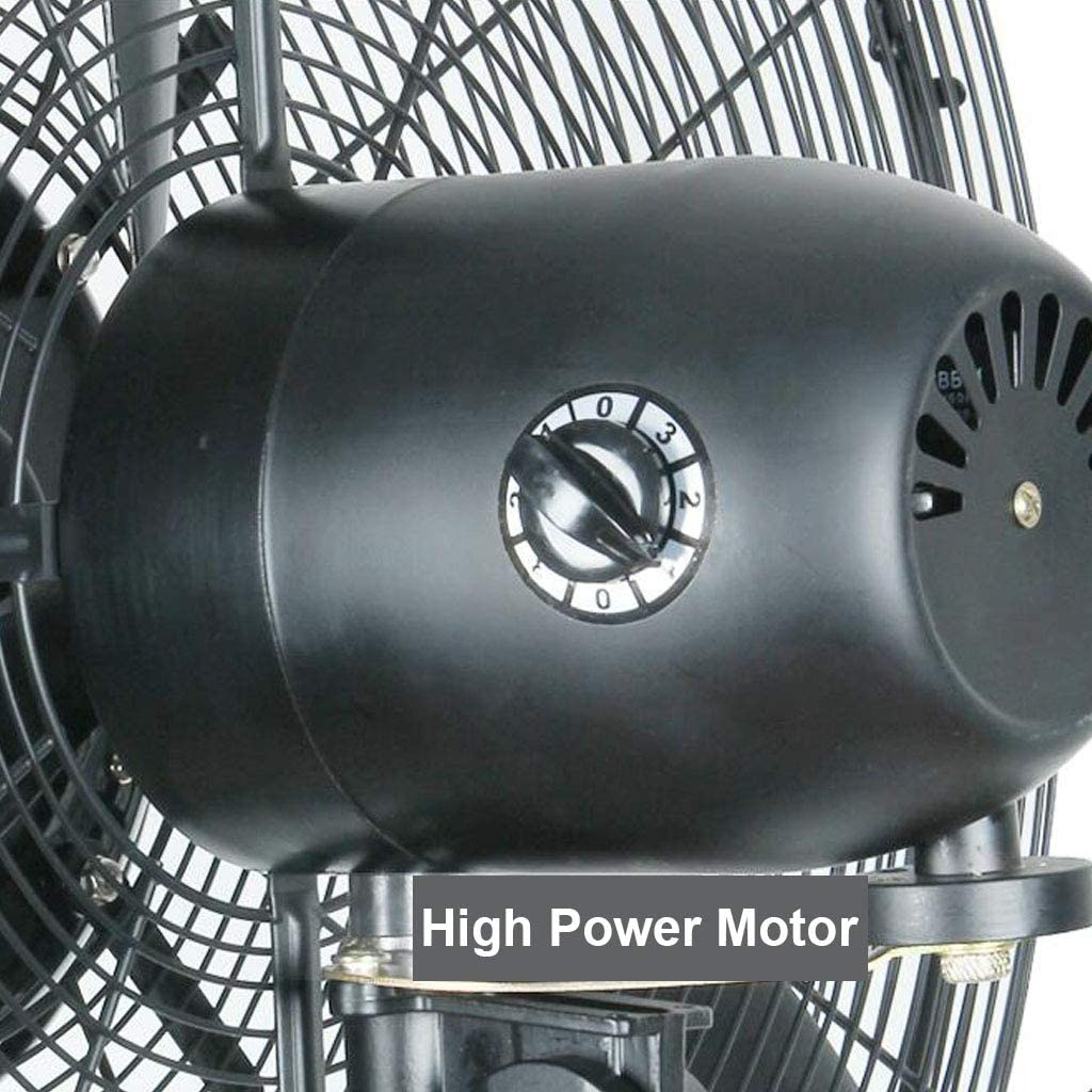 Oscillating Misting Fan Spray Pedestal Standing Fans with Lifting 3 Cooling Speeds 90/° Oscillated Strong Motor for Industrial Commercial and Outdoor Use 110V//60Hz