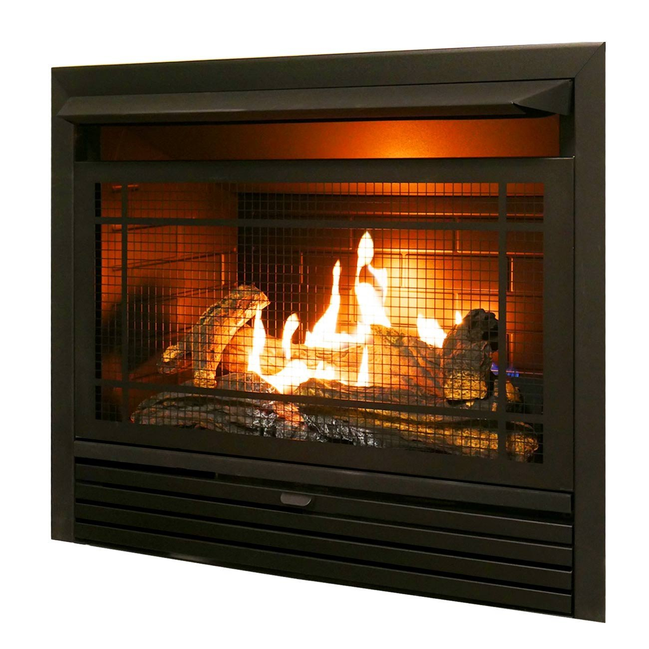 Duluth Forge Dual Fuel Ventless Insert-26,000 BTU, T-Stat Control Gas Fireplace, Black by Duluth Forge