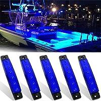 Yunobi 5 STKS 12 V Marine LED Lights Waterdichte Anti-botsing Navigatie Lights Marine Boot Transom Stern Licht voor…