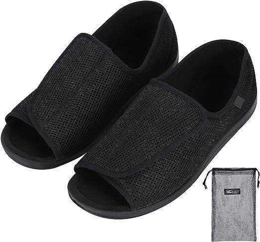Sandalias para hombre diabéticos, zapatos ortopédicos
