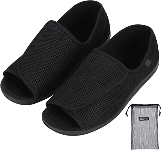 Mens Womens Diabetic Sandals Wide Slippers For Swollen Feet