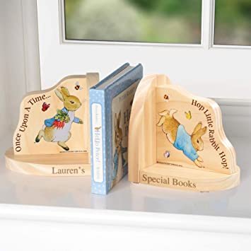 Think Favours Personalised Peter Rabbit Book Ends - Officially Licensed  Beatrix Potter Peter Rabbit Gift- Gifts for Boys, Girls, Xmas, Christmas,