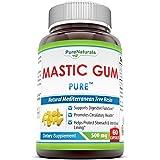 Pure Naturals Mastic Gum, 500 Mg, 60 Count