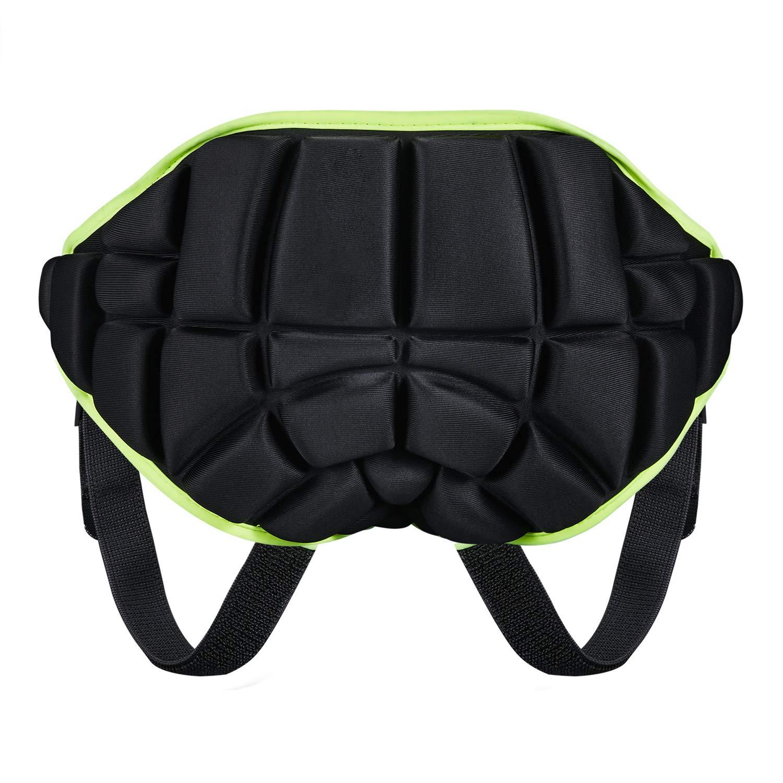 KUYOU 3D Padded Protection Hip, Kids Protective Hip Pad Shorts Anti-Slip Adjustable Lightweight Children Butt Pad Pants for Ski Skate Snowboard Roller Skating Hockey Soccer by KUYOU