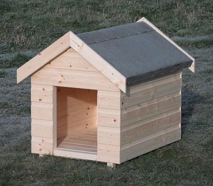 GLB - Caseta para perro (tamaño grande, madera de secuoya sueca), estilo tradicional: Amazon.es: Jardín
