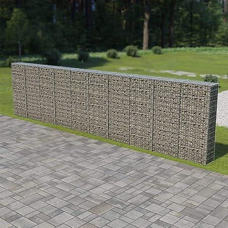 Amazon.com : Festnight Outdoor Gabion Wall Stone Basket Garden ...