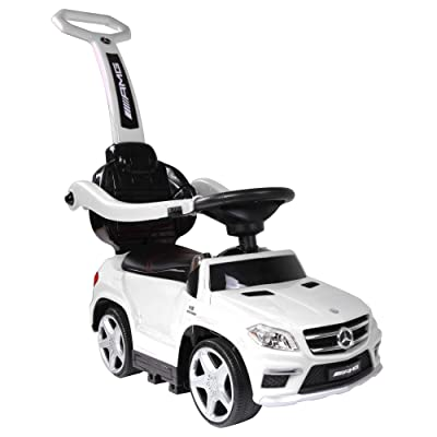 Best Ride On Cars 4 in 1 Mercedes PC White: Toys & Games