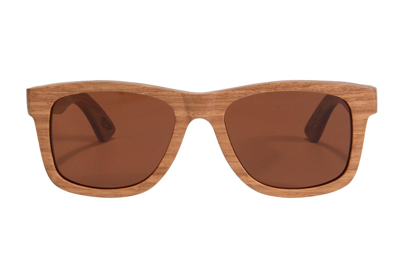 SHINU Holz Sonnenbrille Polarisierte Sonnenbrille UV400 Schutz Eyewear-6050BL (pear, brown logo)