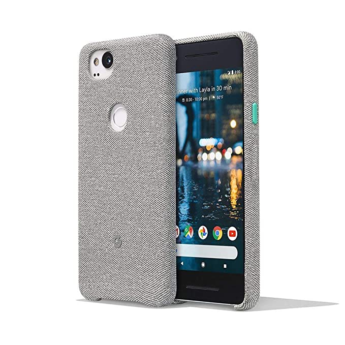 new styles b9f38 82507 Google Pixel 2 PhOne Case Cover Tailored Fabric Active Edge Compatible -  Grey