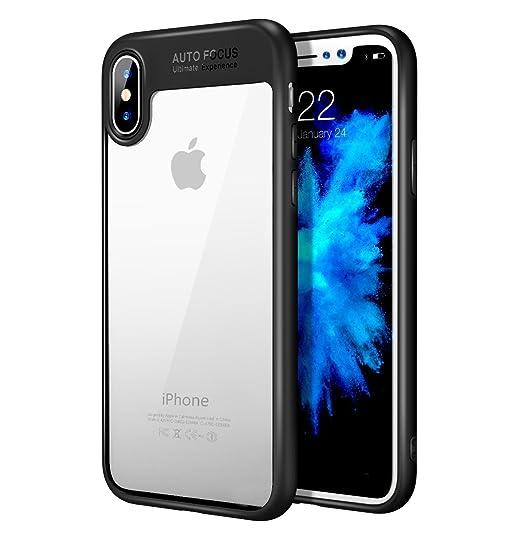 more photos ac6ac a6938 iPhone X case , Auto Focus iPhone 10 Case Black Clear Transparent Silicone  Slim Thin Shock Absorbing Drop Proof Soft Flexible TPU Bumper iPhone X Case  ...