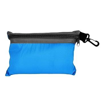 dingchen saco de dormir de forro de seda bolsa de dormir de viaje y Camping Bolsa de dormir (seda), azul celeste: Amazon.es: Deportes y aire libre