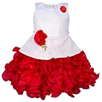 My Lil Princess Baby Girls Birthday Party wear Frock Dress_ New Red Scuba_1-6 Years
