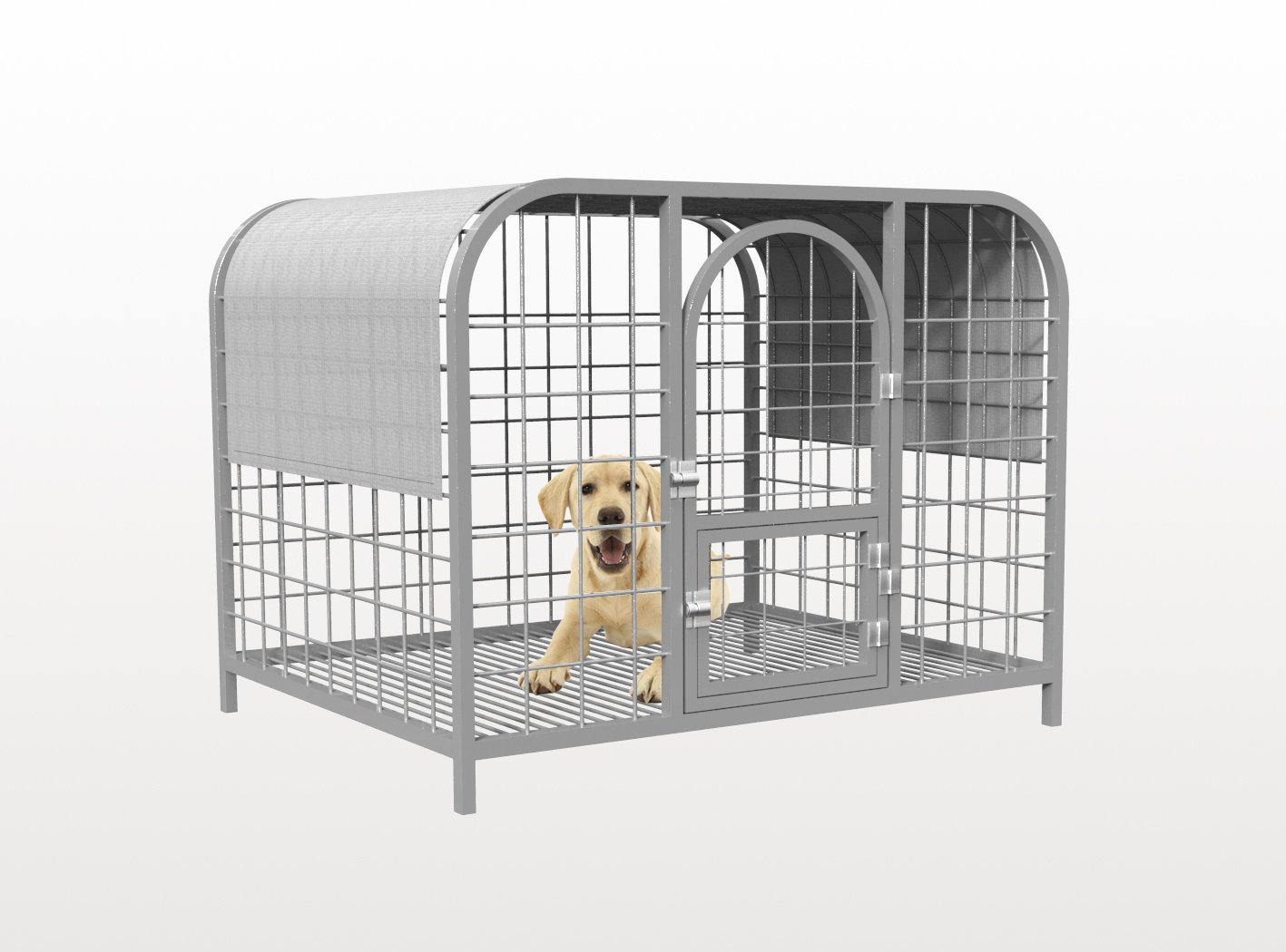 Shatex Dog Kennel Shade Cover, Pet Cage Sunblock Shade Panel With Grommets(Dog Kneel/Pet Cage Not Included) 6x20ft,Gray