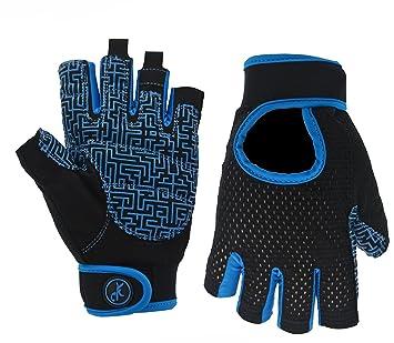 moreok gimnasio y fitness guantes para ciclismo dinámico, mancuernas, levantamiento de pesas deportes muñeca