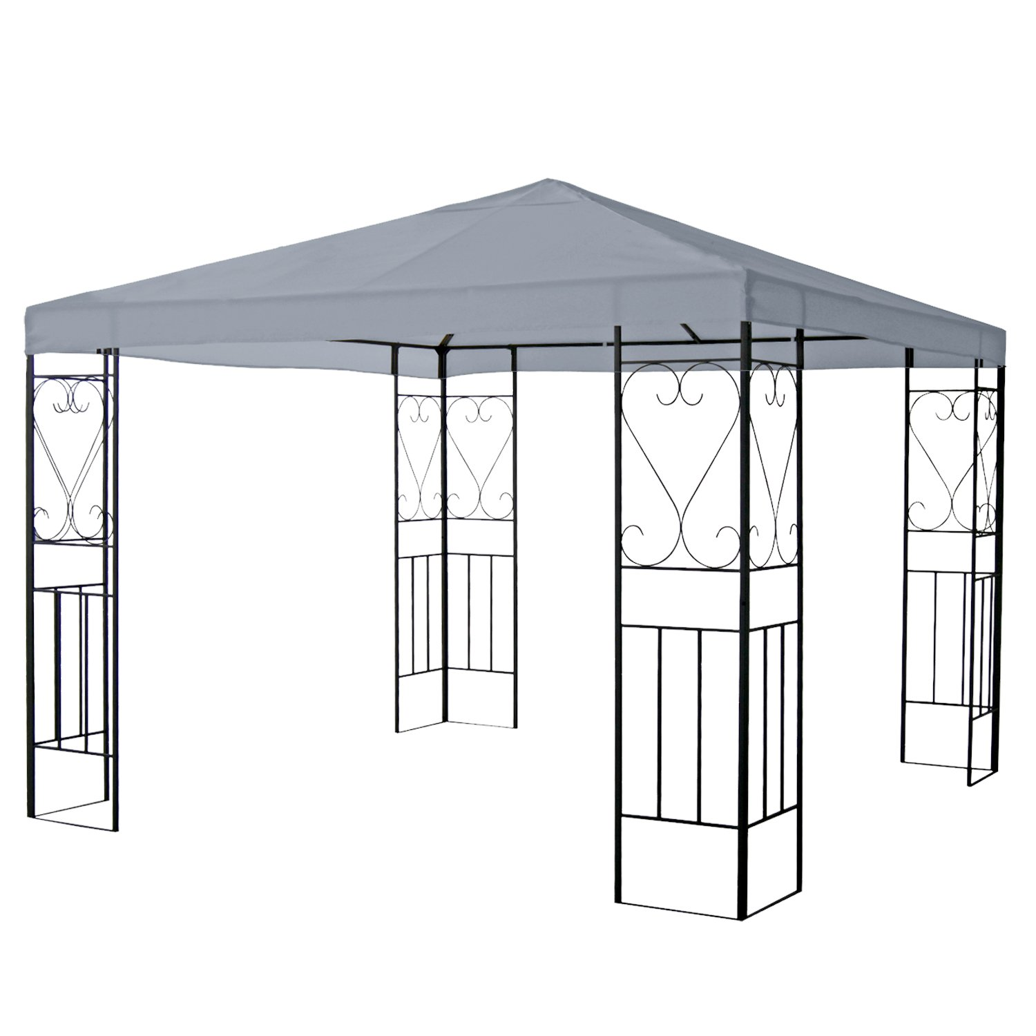 Greenbay Ivory Garden Gazebo Top Cover Roof Replacement Tent Canopy Fabric Sun Shade Cover 1-Tier (Replacement Fabric Only, Frame Not Included) Manufactured for Greenbay