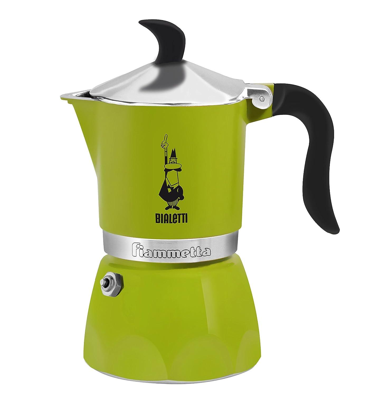 Bialetti 0005771Moka Fiammetta, Caffettiera Espresso, Alluminio, Verde, 1 Tazza